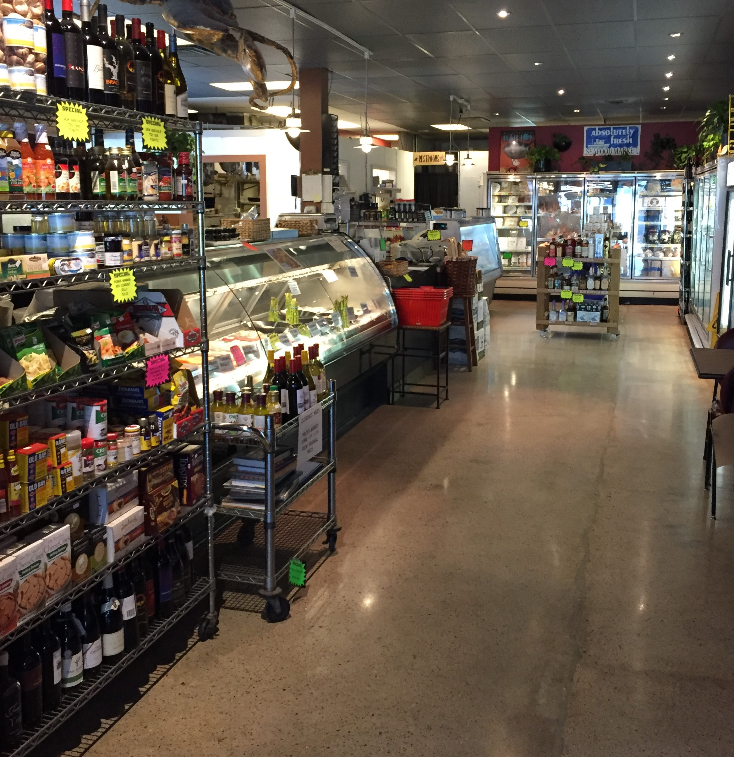 Absolutely Fresh Seafood Market Store Interior